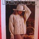 Bernat Irish Knitting Patterns ADULTS Sweaters Pullover
