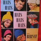 Bernat 1969 Knitting Crocheting Patterns FAMILY Vintage Hats Tams Headbands Toques Berets