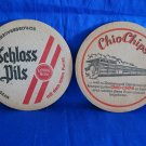 Schloss Pil Beer Coaster Mat Vintage Souvenir Collectible Chio Chips Factory