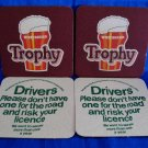 Whitbread Trophy Beer Coasters Mats Vintage Souvenir Collectible set of 4