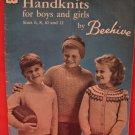 Vintage Beehive Handknits Knitting Patterns CHILDREN Sizes 6 - 12 Sweaters Coats Skating Set etc