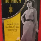RETRO Vintage 1936 Monarch Hand Knits Knitting Patterns LADIES and GIRLS Dress Suit Sweater Pullover