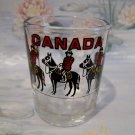Canada RCMP Shot Glass Souvenir Collectible Vintage Horses Police