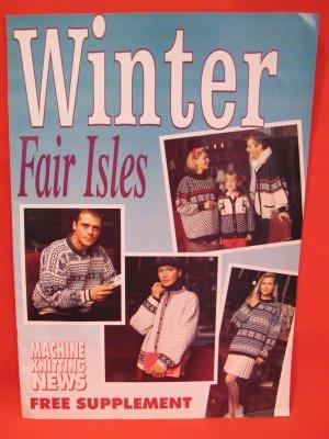 Winter Fair Isles Machine Knitting Patterns News Supplement Patterns FAMILY