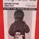 Mary Maxim Graph Style Cardigan Sweater Vintage Knitting Patterns CHILDRENS Snowman