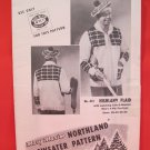 Mary Maxim Northland Cardigan Sweater Vintage Knitting Patterns ADULTS Mens Curling Sweater Tam