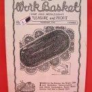 Vintage WORK BASKET Magazine Patterns November 1947