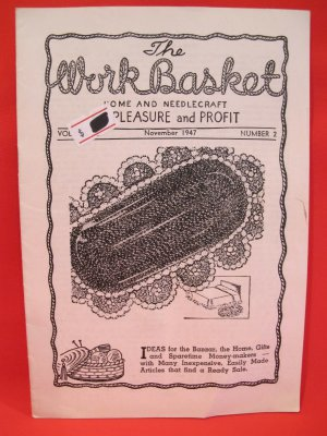 Vintage WORK BASKET Magazine Patterns November 1947
