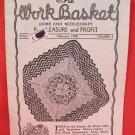 Vintage WORK BASKET Magazine Patterns February 1948