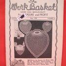 Vintage WORK BASKET Magazine Patterns May 1948