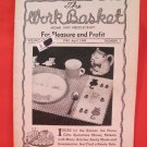 Vintage WORK BASKET Magazine Patterns April 1949