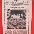 Vintage WORK BASKET Magazine Patterns May 1949