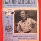 Vintage WORK BASKET Magazine Patterns September 1951