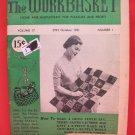 Vintage WORK BASKET Magazine Patterns October 1951