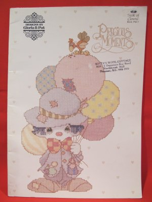 Vintage Precious Moments Cross Stitch Patterns Book of Clowns