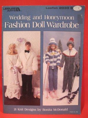 21 Knit Knitting Patterns Barbie Ken Dolls Wedding Honeymoon Wardrobe
