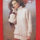 Patons Aran Style Fisherman Knits Knitting Patterns ADULTS Sweaters Skirt