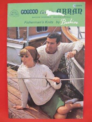 Patons Arran Aran Fisherman Knits Knitting Patterns FAMILY Sweaters