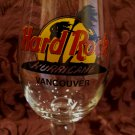 Hard Rock Cafe Hurricane Glass VANCOUVER BC. Souvenir Canada CLOSED