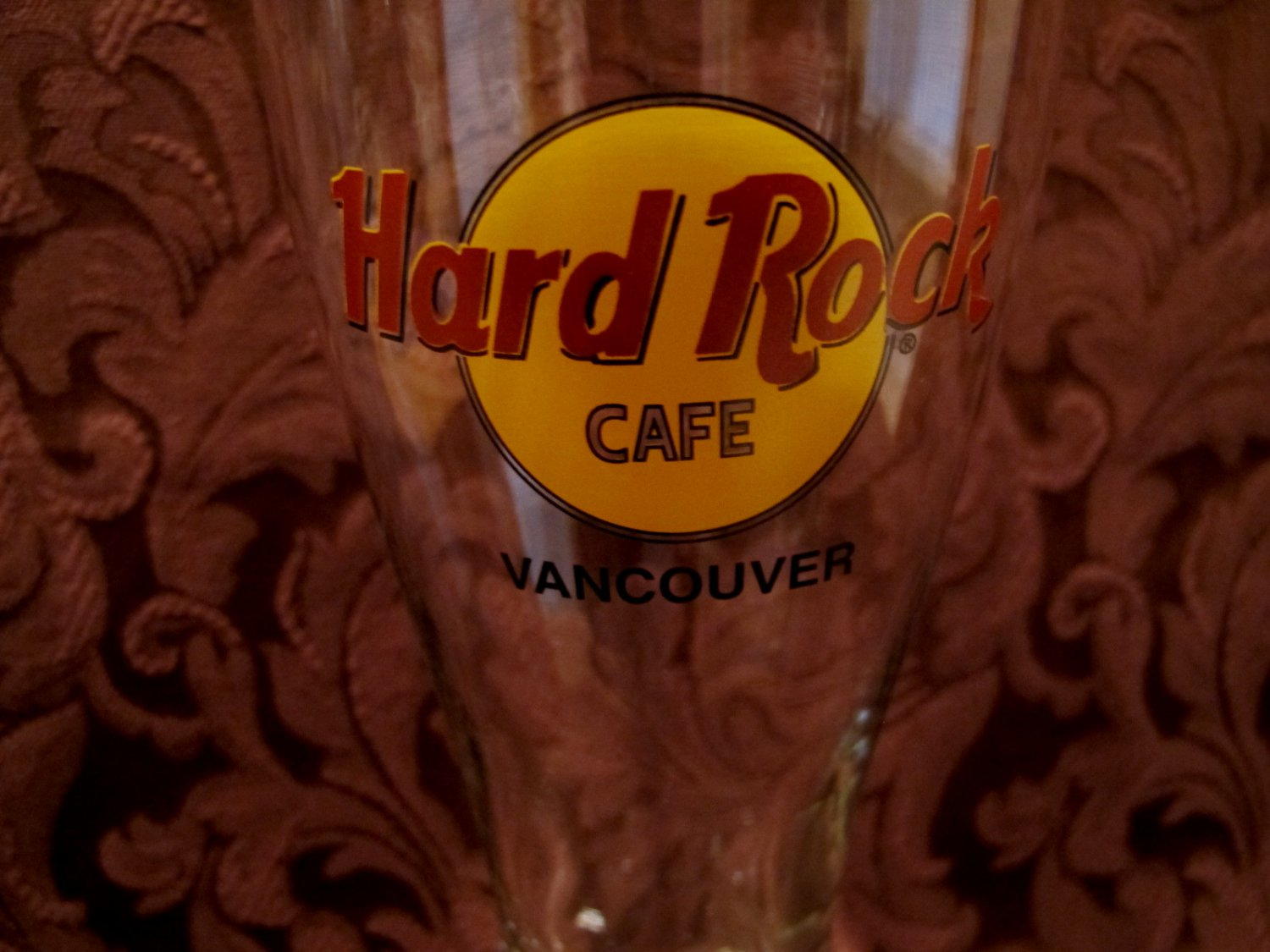 Vancouver bc hard rock cafe pilsner glass souvenir canada for Handley rock jewelry supply vancouver wa