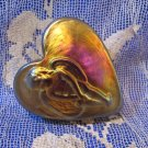 ROBERT HELD Art Glass Paperweight ANGEL HEART Design Canada Souvenir Collector