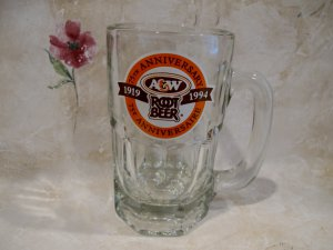 A&W ROOT BEER Mug 75 Year ANNIVERSARY CANADA Souvenir Glass