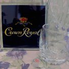 CROWN ROYAL Whisky Shot Glass with COASTER Canadian Whiskey Collector Souvenir Set