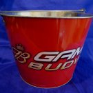 BUDWEISER BEER Ice Bucket Collector Tin Metal Souvenir GAME TIME Red