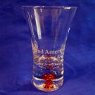 HOLLAND AMERICA Cruise Lines Ship Shot Glass Souvenir AMBER ORANGE Bubble Bead