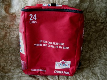 MOLSON CANADIAN BEER Backpack Chiller Pack Cooler Tote CANADA Souvenir IF YOU CAN READ THIS