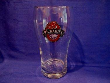 Rickards Beer Glass Souvenir Canada Collector Collectible Etched R