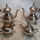 Vintagr Silver Plated Tea Set, Lady Margaret Pattern, 5 Piece Tea Service