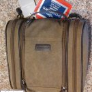 Dockers brown Canvas double Barrel travel Bag NWT