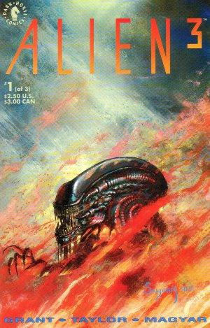 Alien 3 Movie Adaptation Complete Set #1-3 - Steven Grant Dark Horse Comics 1992