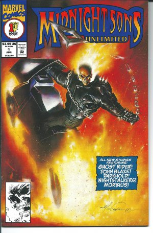 Midnight Sons Unlimited Issue #1 - Mark Texeira Marvel Comics 1994