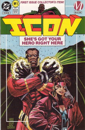 Icon Issue #1 - Collector's Edition Mark Bright DC Milestone Comics 1993