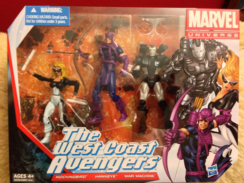 Marvel Universe Team Packs - The West Coast Avengers [Mockingbird, Hawkeye & War Machine]