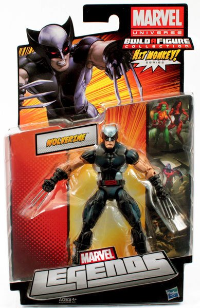 Marvel Universe Build a Figure Collection Hit Monkey Series X-Force Wolverine Action Figure