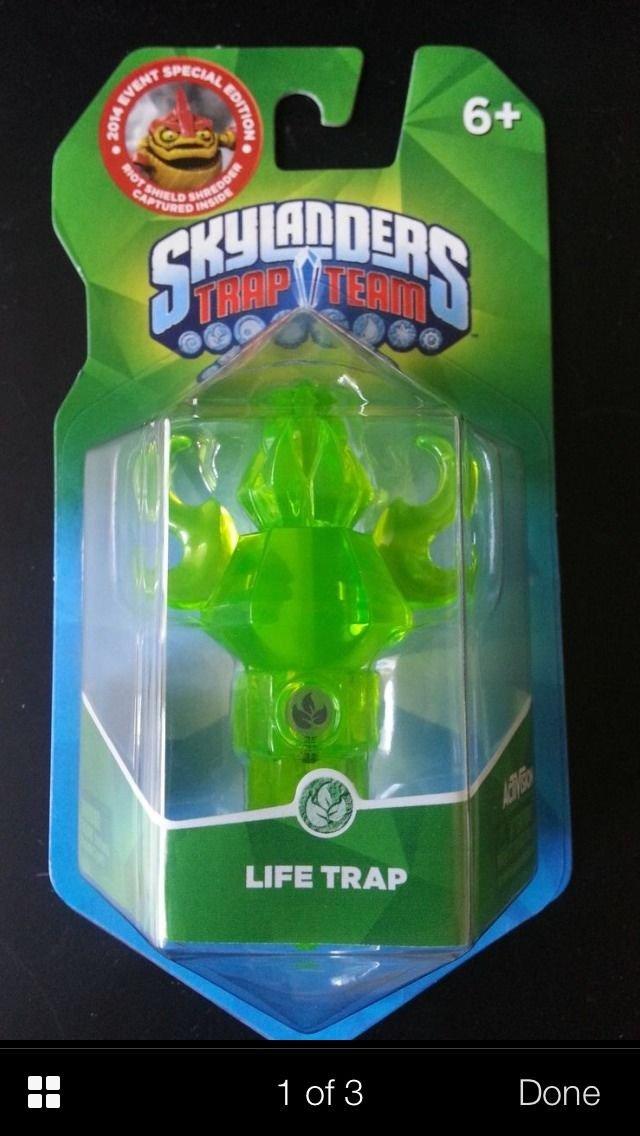 E3 2014 Skylanders Trap Team Exclusive Life Torch Riot Shield Shredder