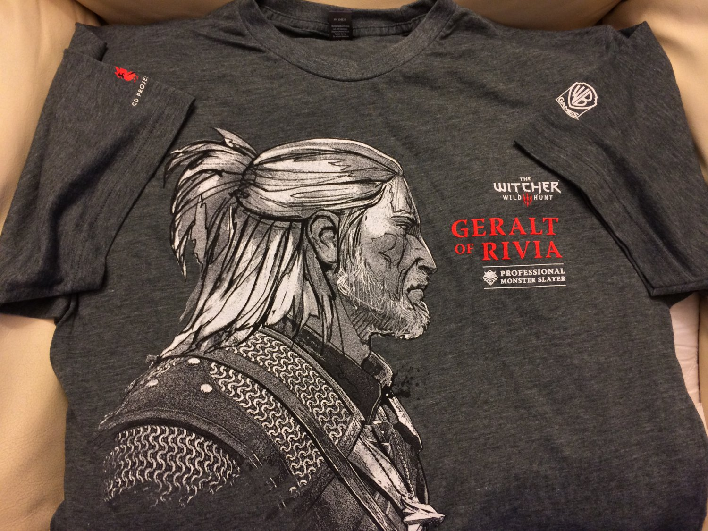 E3 2014 The Witcher Iii Wild Hunt T Shirt Rare