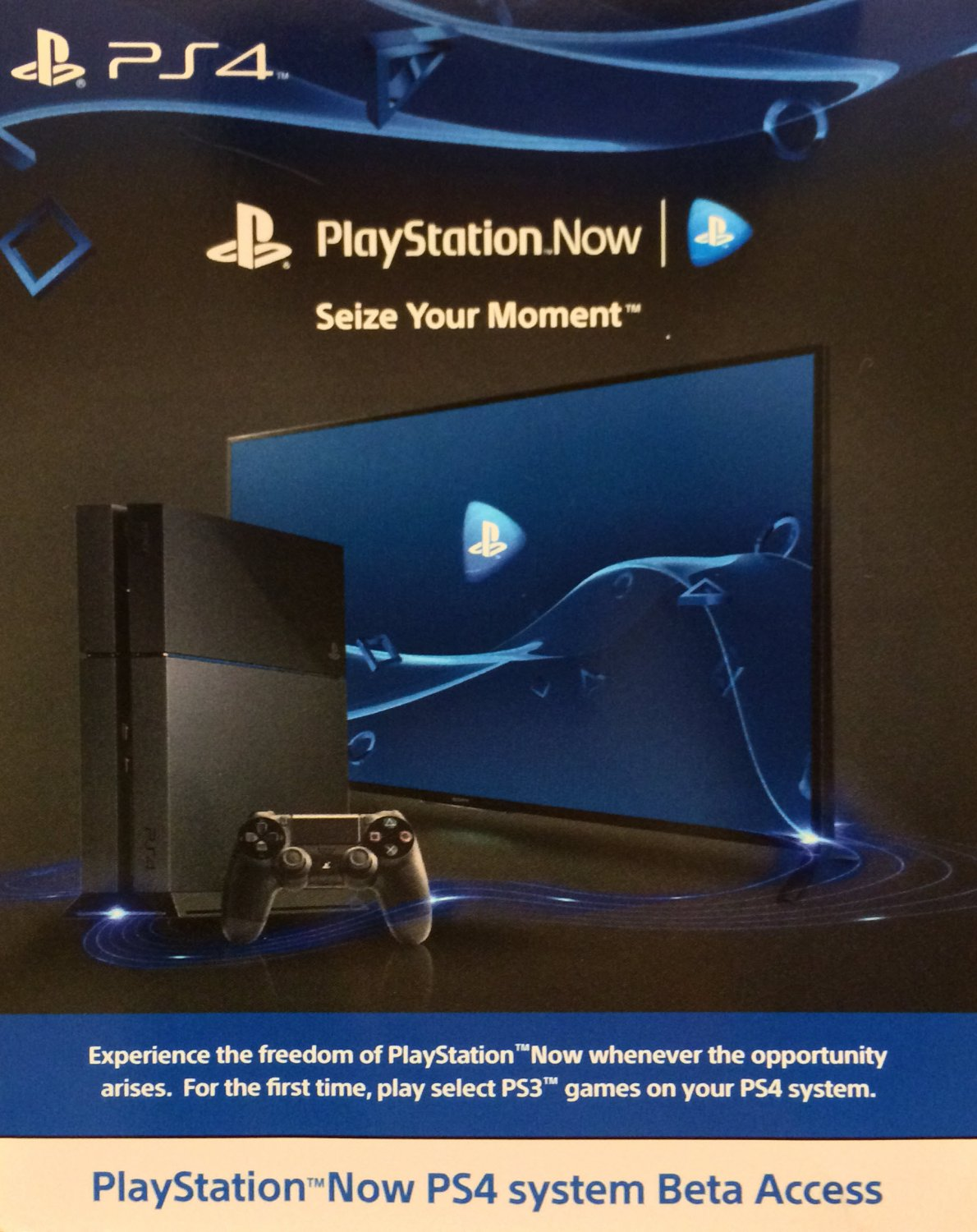 E3 2014 PlayStation Now PS4 system Beta Acccess Unlock Code