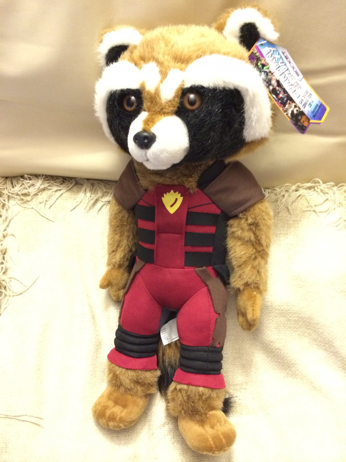 """SDCC 2014 Marvel Exclusive Guardians of the Galaxy Rocket Raccoon 15"""" plush variant - RARE"""