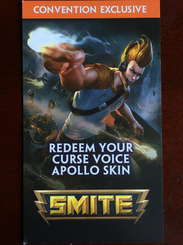 E3 2015 Exclusive SMITE Apollo Skin code