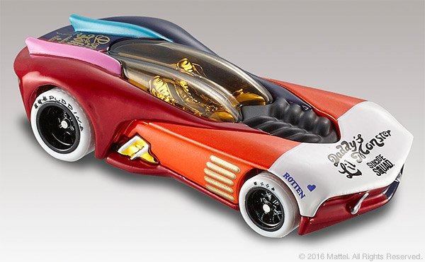 SDCC 2016 Mattel Hot Wheels® Suicide Squad Harley Quinn Character Car