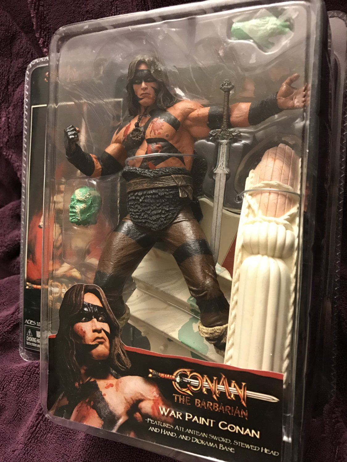 "Conan the Barbarian: War Paint Conan Series 1 - 7"" figure by Neca"