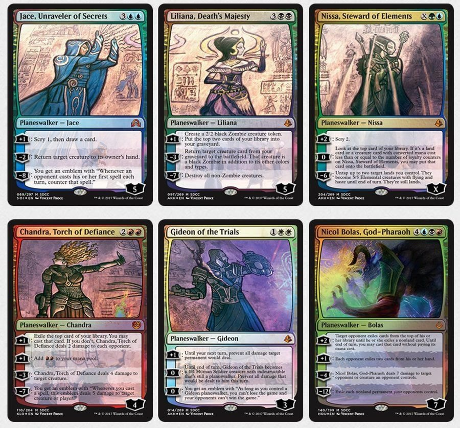 SDCC 2017 Exclusive Magic The Gathering Planeswalker Pack