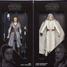 SDCC 2017 Hasbro Exclusive Luke & Rey Star Wars: The Last Jedi Black Series Set