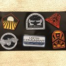 SDCC 2017 ALIEN COVENANT PIN BADGES - Set of 6 pins