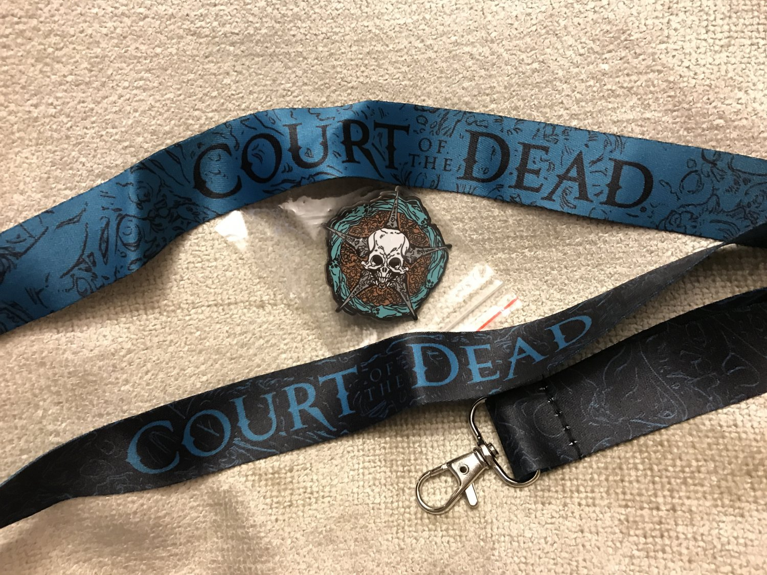 SDCC 2017 Exclusive Sideshow Court of the Dead pin and lanyard collectables