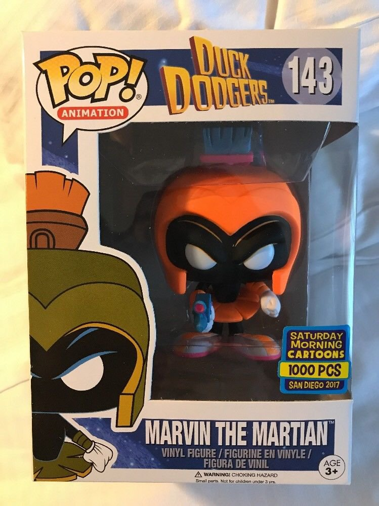 SDCC 2017 Funko Pop Marvin The Martian Duck Dodgers Exclusive only 1000 pcs